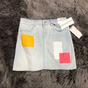 Calvin Klein Jeans | Girls Mid Rise Denim Skirt